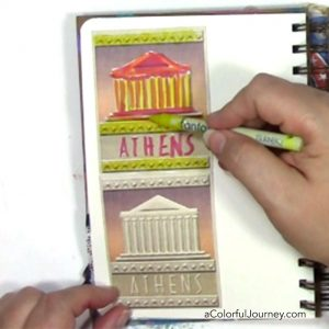 Art journaling video tutorial sharing that it doesn't matter where you start what matters is that you start by Carolyn Dube