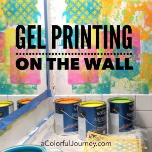 Gel Printing on the Wall thumbnail