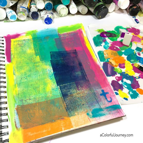 Art journal tutorial inspired by Matisse and his stars