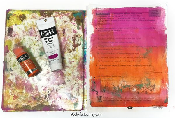 What you need to get started gel printing tutorial by Carolyn Dube