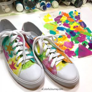 Paint Couture…Gel Printing Rainbow Sneakers thumbnail