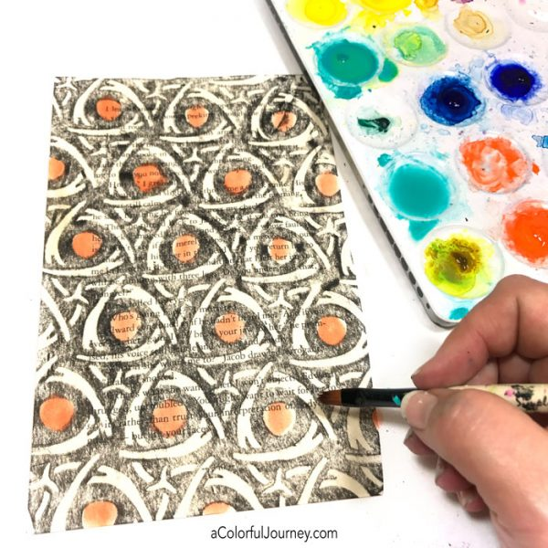 How to make crayon rubbings with stencils on book text video tutorial by Carolyn Dube