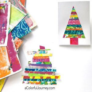 Using Gel Prints to Make a Holiday Card thumbnail