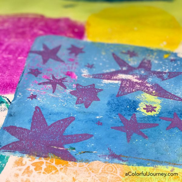 Stars Inspired by Matisse stencil designed by Carolyn Dube for StencilGirl Products