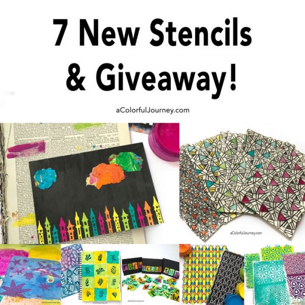 7 New stencils and a giveaway!