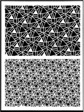 Triangular Pathways stencil designed by Carolyn Dube for StencilGirl Products