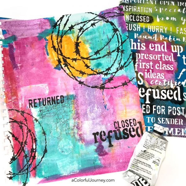 Finding stress relief in my art journal by Carolyn Dube