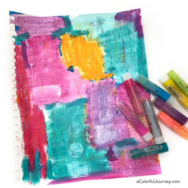 Finding stress relief in my art journal with Gelatosby Carolyn Dube