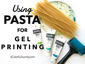 Using Pasta for Gel Printing thumbnail