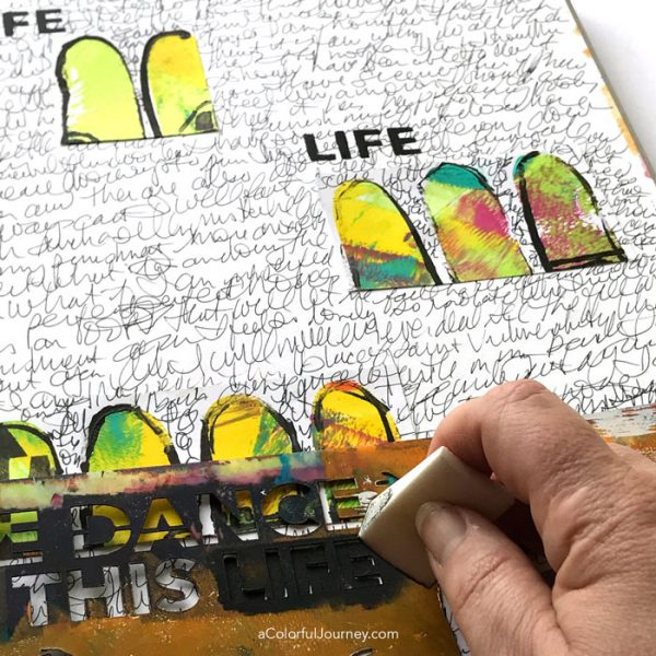 Art journaling inspired by leftover scraps by Carolyn Dube