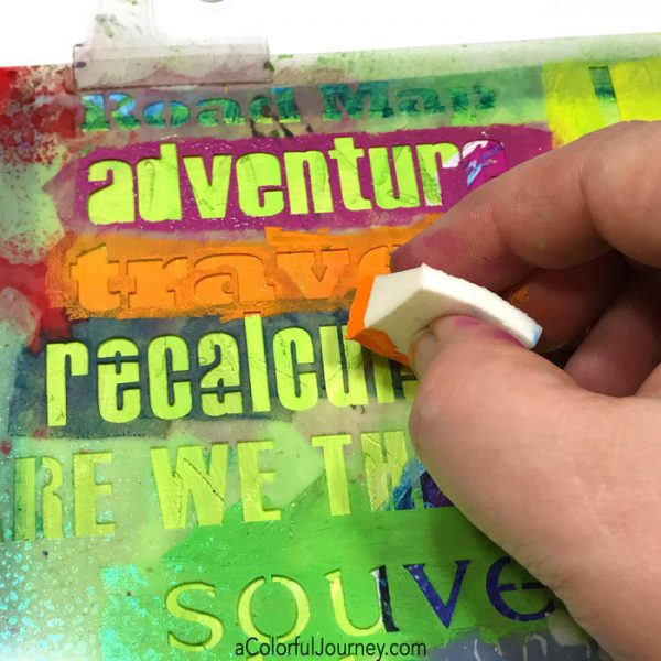 Starting an art journal page with a free Spark of Art-spiration tutorial by Carolyn Dube