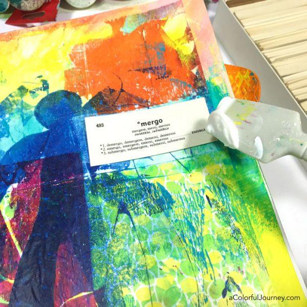 Using deli paper in an art journal tutorial by Carolyn Dube