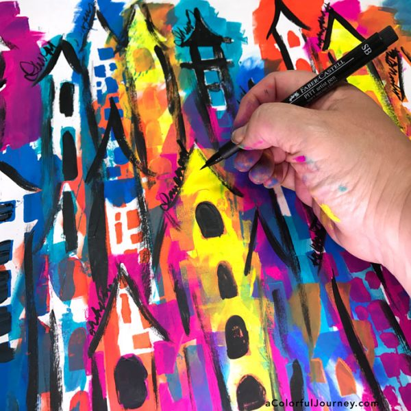 What not to do with pens and wet paint and the 3 second rule by Carolyn Dube