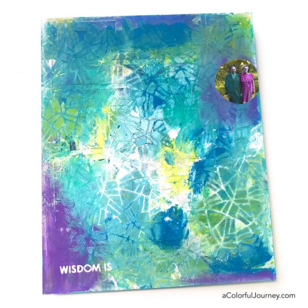 Wet Paint, a Baby Wipe and a Stencil tutorial by Carolyn Dube using StencilGirl Products