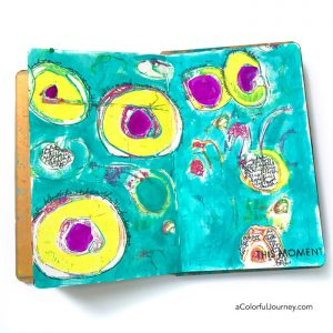 Abstract Art Journal Play that Started with a Gel Print thumbnail