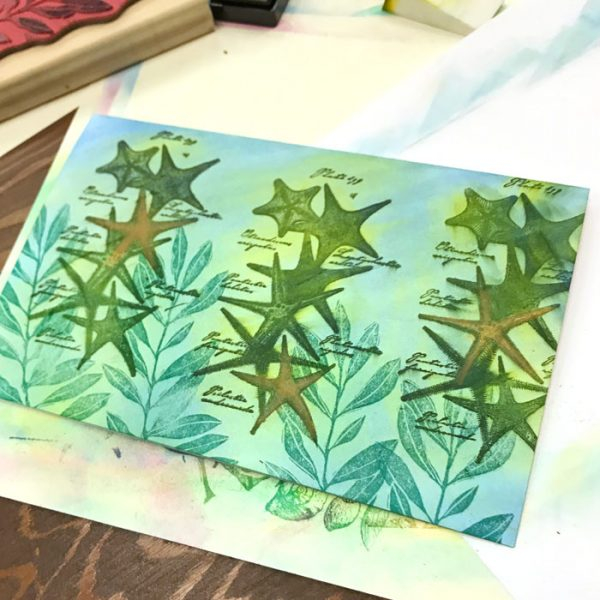 Stamping with PanPastels workshop with Carolyn Dube