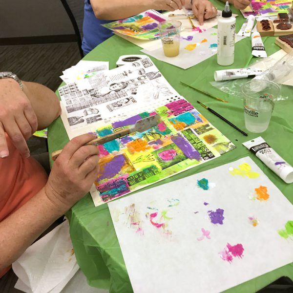 Sneaky Art Journaling Workshop with Carolyn Dube