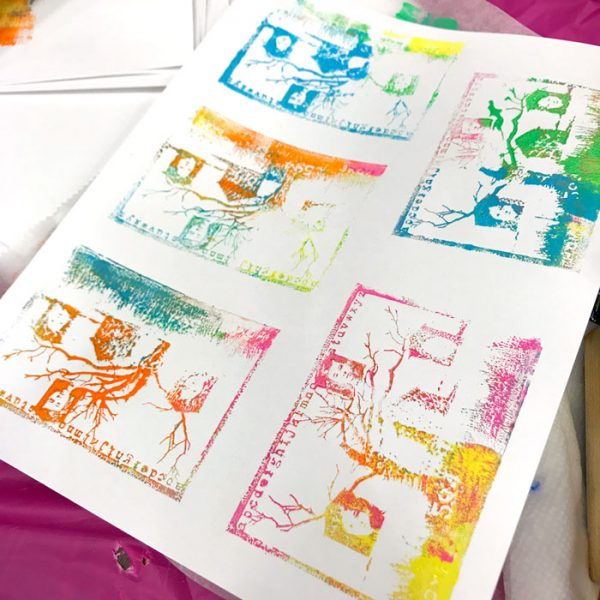 Stamping with the Gel Plate workshop with Carolyn Dube