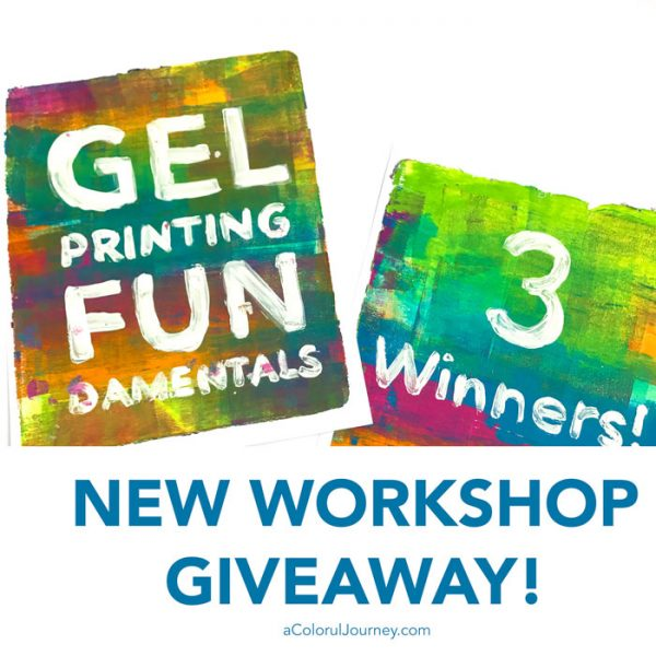 Gel Printing FUNdamentals workshop with Carolyn Dube giveaway!