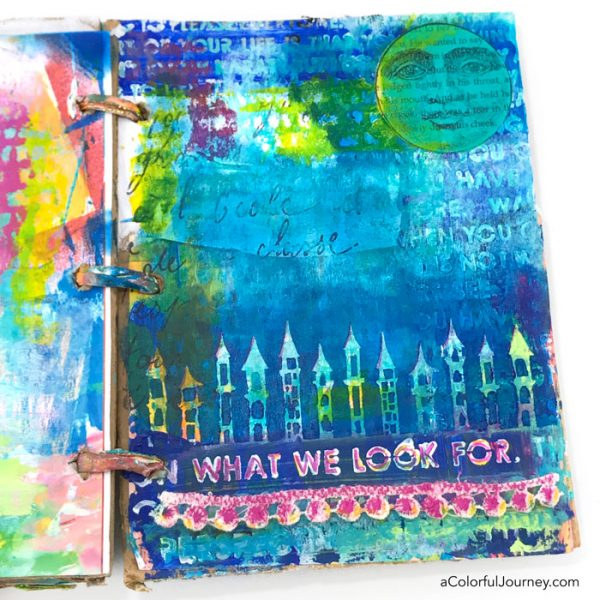 Handling those silly and critical voices in my head as I'm playing in my cardboard art journal by Carolyn Dube