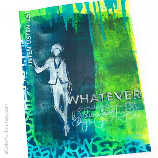 Teenage Angst stencil by Carolyn Dube at StencilGirlProducts.com