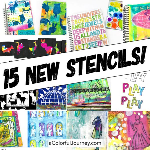 New stencils by Carolyn Dube at StencilGirlProducts.com