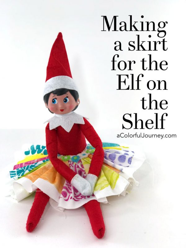 Making A Skirt For The Elf On The Shelf Carolyn Dube