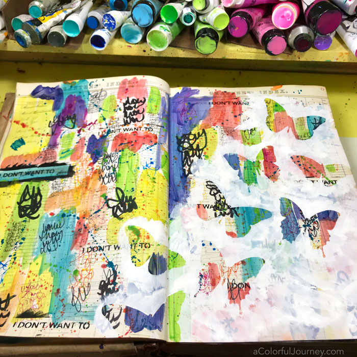 Covering Background Art Journal Tutorial Carolyn Dube 2