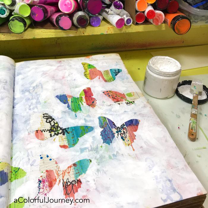 Covering Background Art Journal Tutorial Carolyn Dube 4