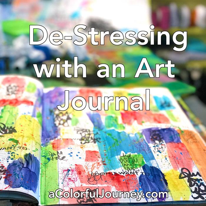 Reducing Stress Art Journaling Background Tutorial Carolyn