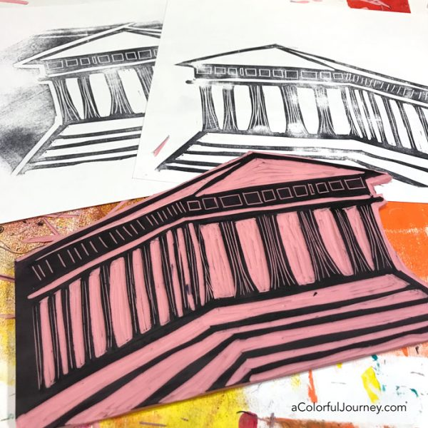 Stamping Large Images With An Ink Pad Often Gives Less Than Ideal To Create Dark Strong Lines Try Using Paint Instead