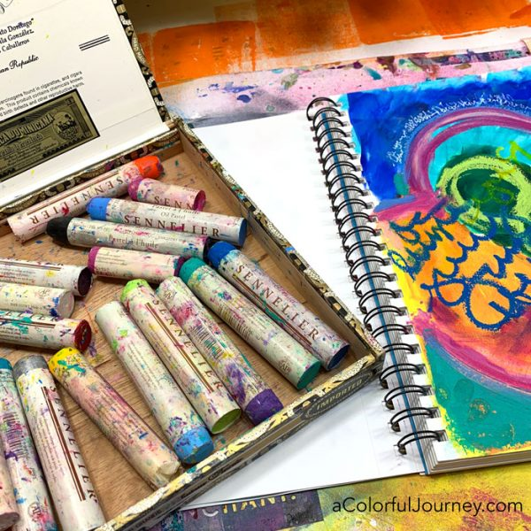 Art Journal Pages Can Change Directions Suddenly Carolyn Dube