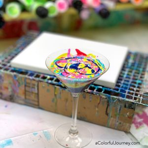 Paint Pouring with a Martini Glass thumbnail