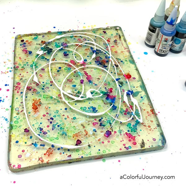 Tutorial using alcohol inks on a gel plate by Carolyn Dube #gelprinting