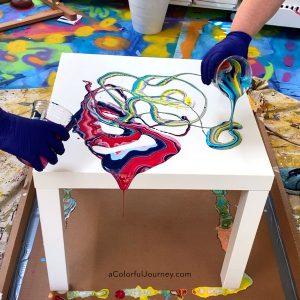 Paint Pouring an IKEA Table & Create a Conversation Piece thumbnail