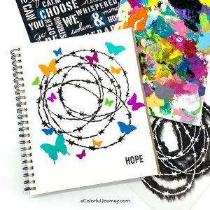 Barbed Wire & Butterflies, a Stenciling Tutorial thumbnail